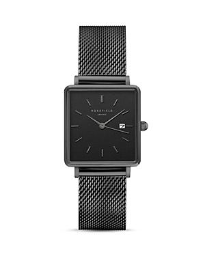 Rosefield The Boxy All Black Watch, 26mm X 28mm