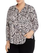 Nic+zoe Plus Femme Cheetah-print Blouse