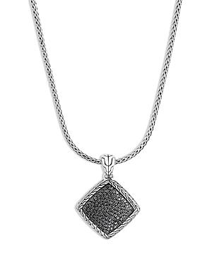 John Hardy Sterling Silver Classic Chain Pendant Necklace With Black Sapphire & Black Spinel, 20