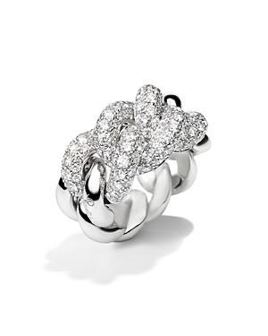 Pomellato Ring With Diamonds In 18k White Gold