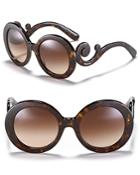 Prada Round Baroque Sunglasses, 55mm