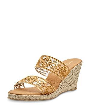 Andre Assous Women's Anja Slip On Espadrille Wedge Sandals