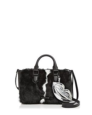 Kendall And Kylie Claire Leather & Faux Fur Satchel