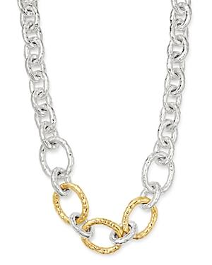 Ippolita Sterling Silver & 18k Yellow Gold Classico Bastille Chain Necklace, 19.5