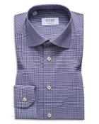 Eton Gingham Stretch Regular Fit Dress Shirt