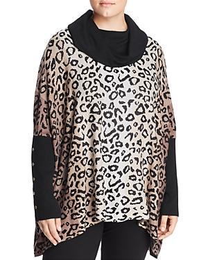 Joseph A Plus Leopard Jacquard Cowl-neck Sweater