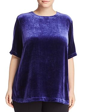 Eileen Fisher Plus Crewneck Velvet Top - 100% Exclusive