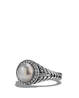 David Yurman Albion Pearl Ring With Diamonds