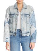 Blanknyc Bandana Detail Trucker Jacket