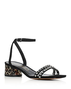 Marc Jacobs Olivia Embellished Ankle Strap Block Heel Sandals