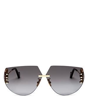 Loewe Women's Rimless Geometric Sunglasses, 71mm