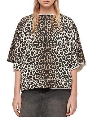 Allsaints Mila Leopard-print Sweatshirt