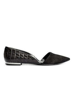 Messeca Hayden Pointy Toe Flat Black