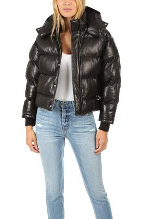 Iro Collyn Leather Puffer Coat
