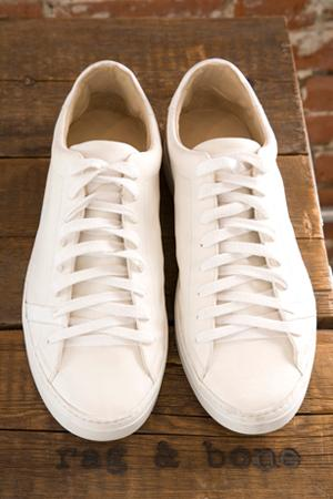 Rag & Bone Trainer In White Leather