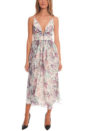 Zimmermann Rhythm Plunge V Dress