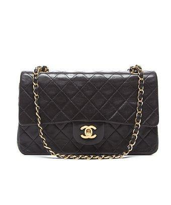 Chanel Pre-owned Chanel Black Lambskin Medium Quilted Flap Bag