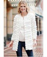 Donna Salyers' Fabulous-furs Sequin Mid-length Fur Coat