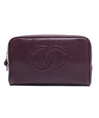 Chanel Pre-owned Chanel Marsala Caviar Cc Cosmetic Bag