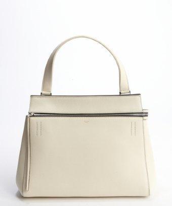 Celine White Calfskin 'edge' Top Handle Bag
