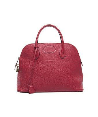 Hermes Pre-owned Hermes Vintage Red Togo Bolide 35 Bag