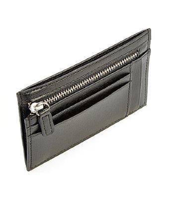 Royce Leather Rfid Blocking Slim Card Case Wallet In Italian Saffiano Leather