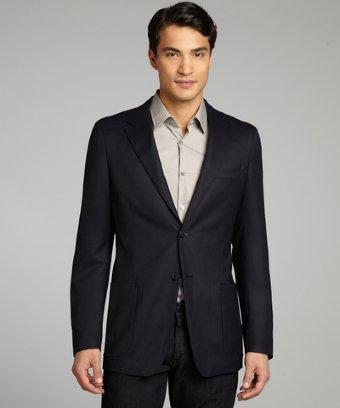 Prada Navy Wool Two-button Blazer