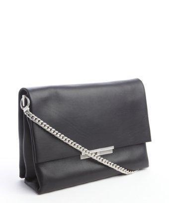 Celine Black Calfskin 'blade' Chain Strap Shoulder Bag