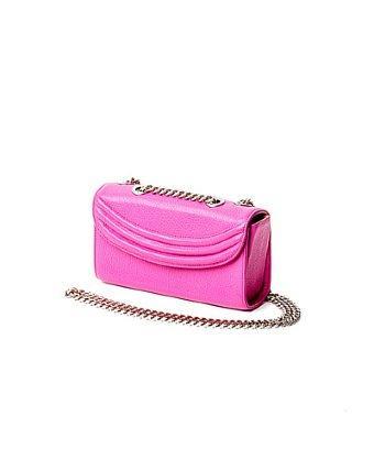 Lauren Cecchi New York Sorella Small Chain Bag In Hibiscus Pink
