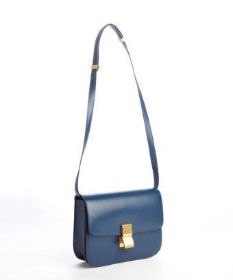 Celine Blue 'classic Box' Shoulder Bag