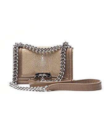 Chanel Pre-owned Chanel Beige Stingray Small Boy Flap Bag