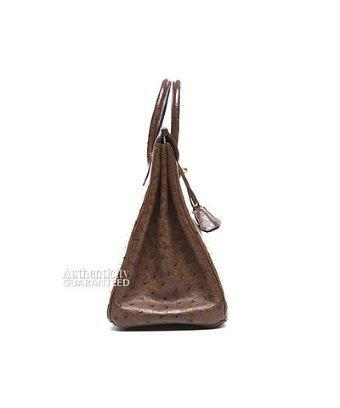 Hermes Pre-ownedhermes Brown Ostrich 32cm Hac Birkin