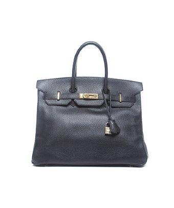 Hermes Pre-owned Hermes Black Ardennes Leather Birkin 35 Bag