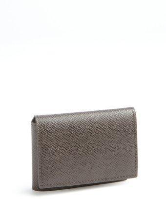 Joseph Abboud Brown  Caviar Leather Flap Pocket Wallet