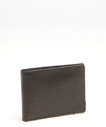 Joseph Abboud Black Leather Bi-fold Wallet