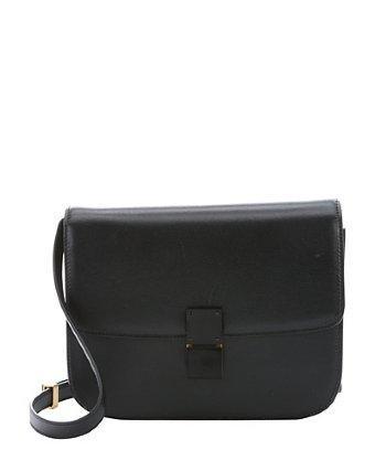Celine Black Leather Medium 'classic Box' Shoulder Bag