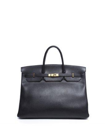 Hermes Pre-owned Hermes Black Ardennes Leather Birkin 40 Bag