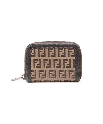 Fendi Guaranteed Authentic Pre-owned Fendi Card Holder Zucchino Wallet