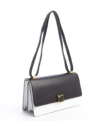 Celine Black And White Calfskin Crossbody Bag