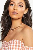Boohoo Gold Shell Statement Necklace