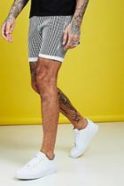 Boohoo Skinny Fit Stripe Detail Denim Shorts