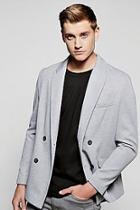 Boohoo Double Breasted Textured Blazer