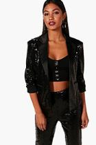 Boohoo Boutique Annie Sequin Tailored Blazer