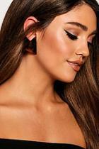 Boohoo Tortoiseshell Resin Triangle Stud Earrings