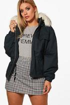 Boohoo Plus Rosie Pocket Front Hooded Jacket