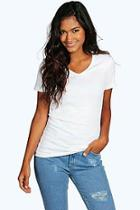 Boohoo Isla Basic V Neck T-shirt