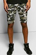 Boohoo Long Length All Over Camo Shorts