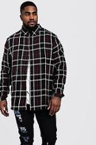 Boohoo Big And Tall Longline Check Shirt