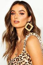 Boohoo Raffia Diamond Earrings