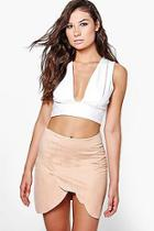 Boohoo Olivia Scallop Edge Mini Skirt